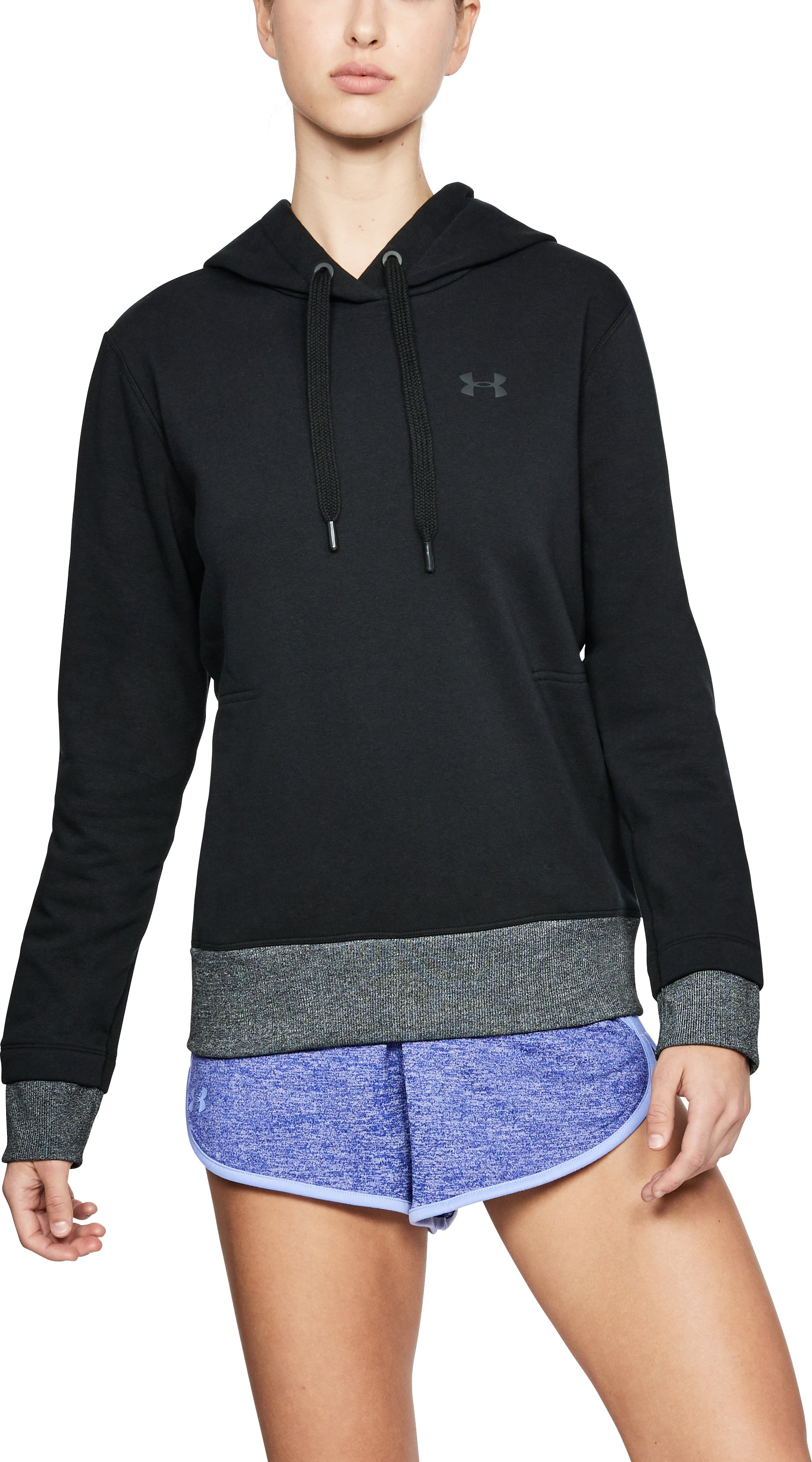 Women's UA Threadborne™ Fleece Hoodie, Black
