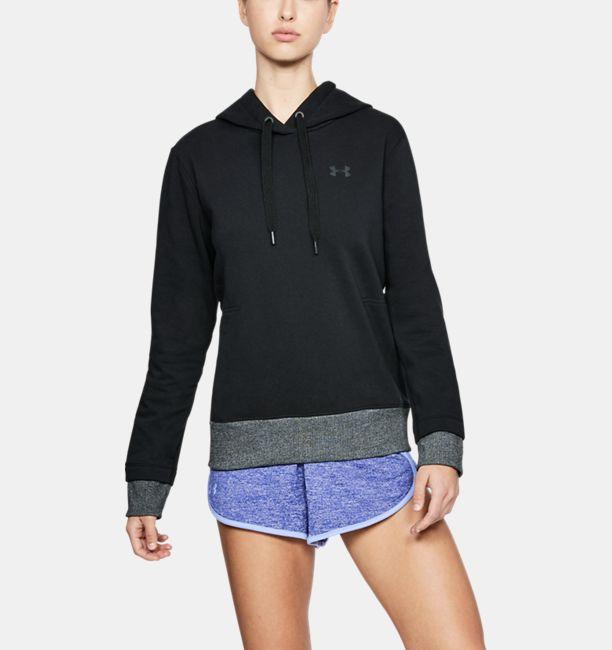 Womens ua threadborne fleece hoodie under armour us womens ua threadborne fleece hoodie black gumiabroncs Gallery