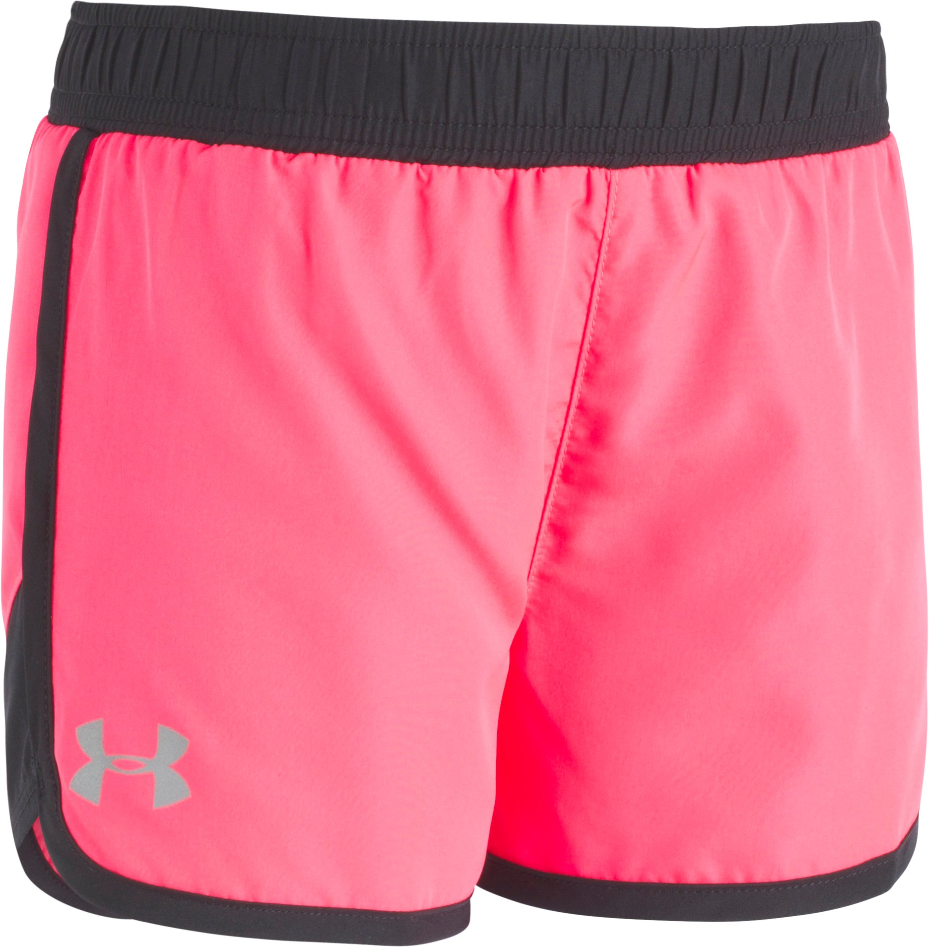 Girls' Pre-School  UA Fast Lane Shorts, PENTA PINK, Laydown