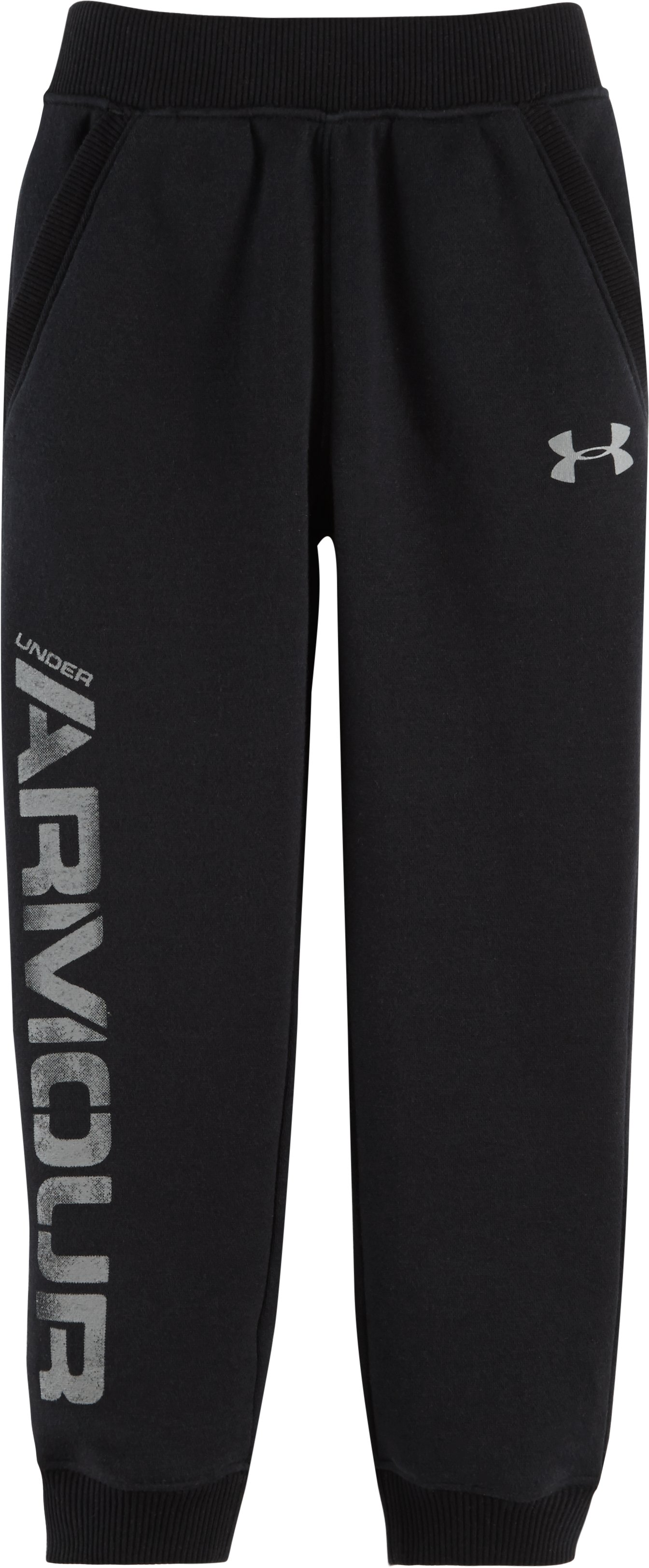 Boys' Pre-School UA Titan Fleece Joggers, Black , Laydown