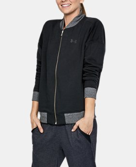 Women's UA Threadborne™ Fleece Bomber  1 Color $79.99