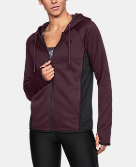Women's UA Storm Armour® Fleece Full Zip Twist Hoodie LIMITED TIME OFFER 1 Color $45.32