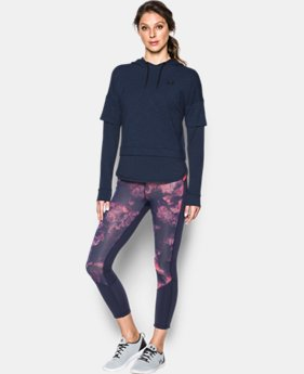 Women's UA Featherweight Fleece Faux 2-in-1 Hoodie  1 Color $59.99