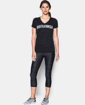 Women's UA Threadborne™ Graphic V-Neck  1 Color $29.99 to $39.99