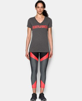 Women's UA Threadborne™ Graphic V-Neck  1 Color $32.99