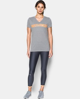 Women's UA Threadborne™ Twist Graphic V-Neck  1 Color $32.99