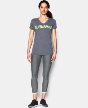 Women's UA Threadborne™ Twist Graphic V-Neck  1 Color $29.99 to $39.99