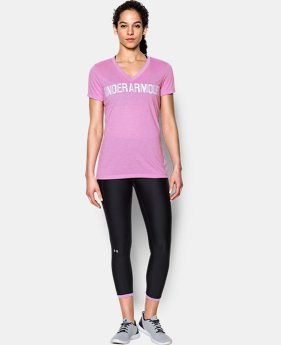 Women's UA Threadborne™ Twist Graphic V-Neck  2 Colors $32.99