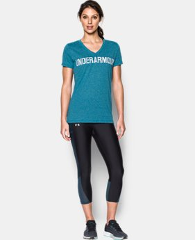 Women's UA Threadborne™ Twist Graphic V-Neck  1 Color $21.99 to $29.99