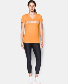 Women's UA Threadborne™ Twist Graphic V-Neck  1 Color $39.99