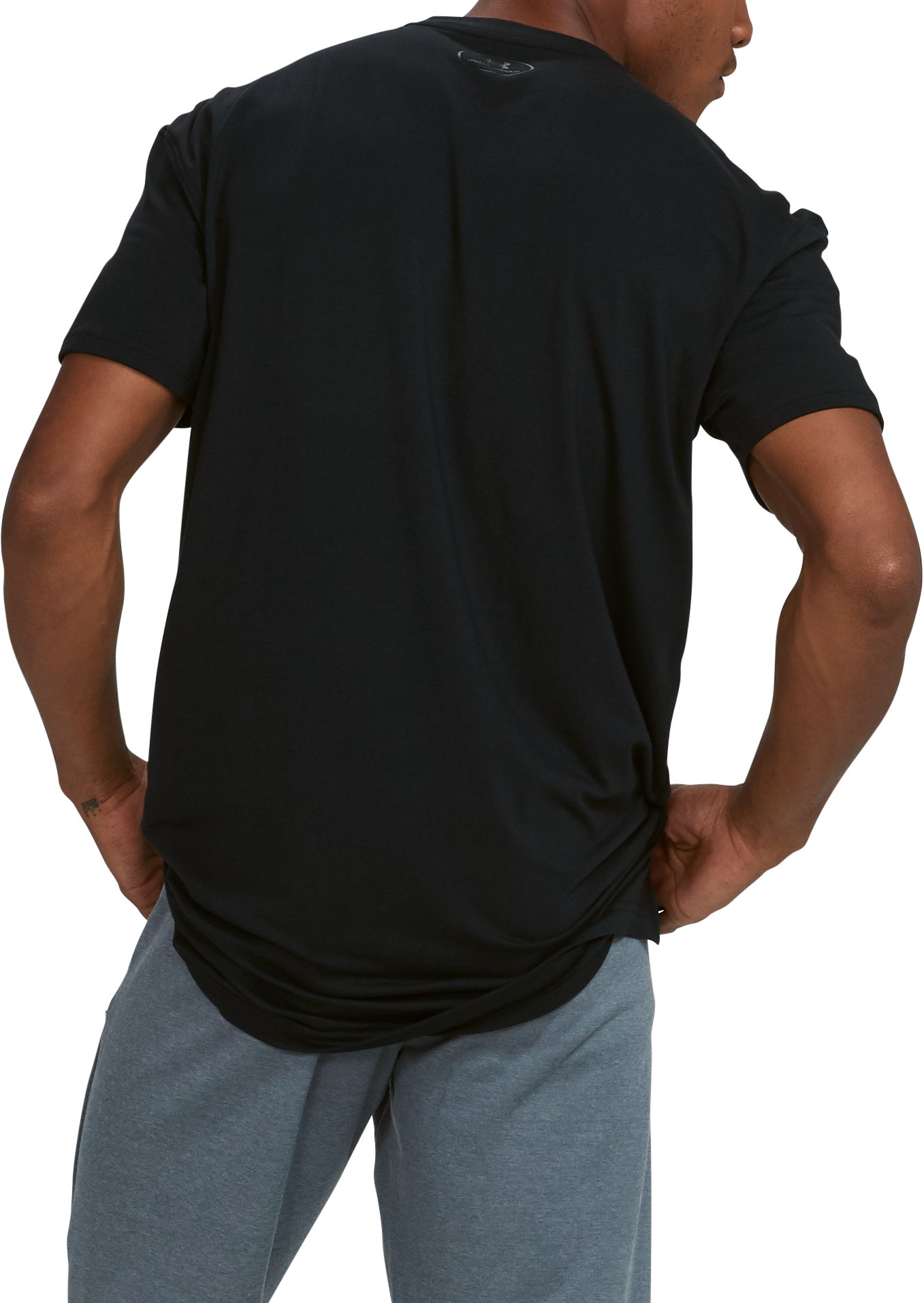 Men's UA Pursuit Stealth T-Shirt, Black , undefined