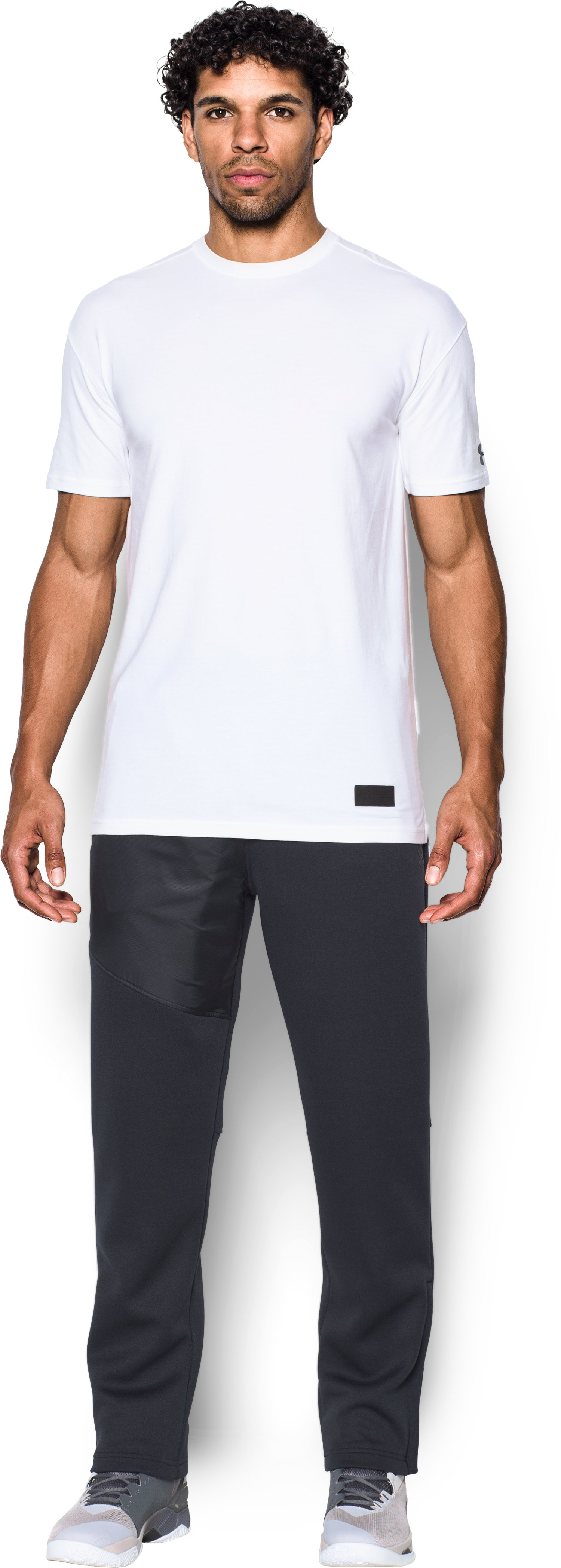 Men's UA Pursuit Stealth T-Shirt, White, Front