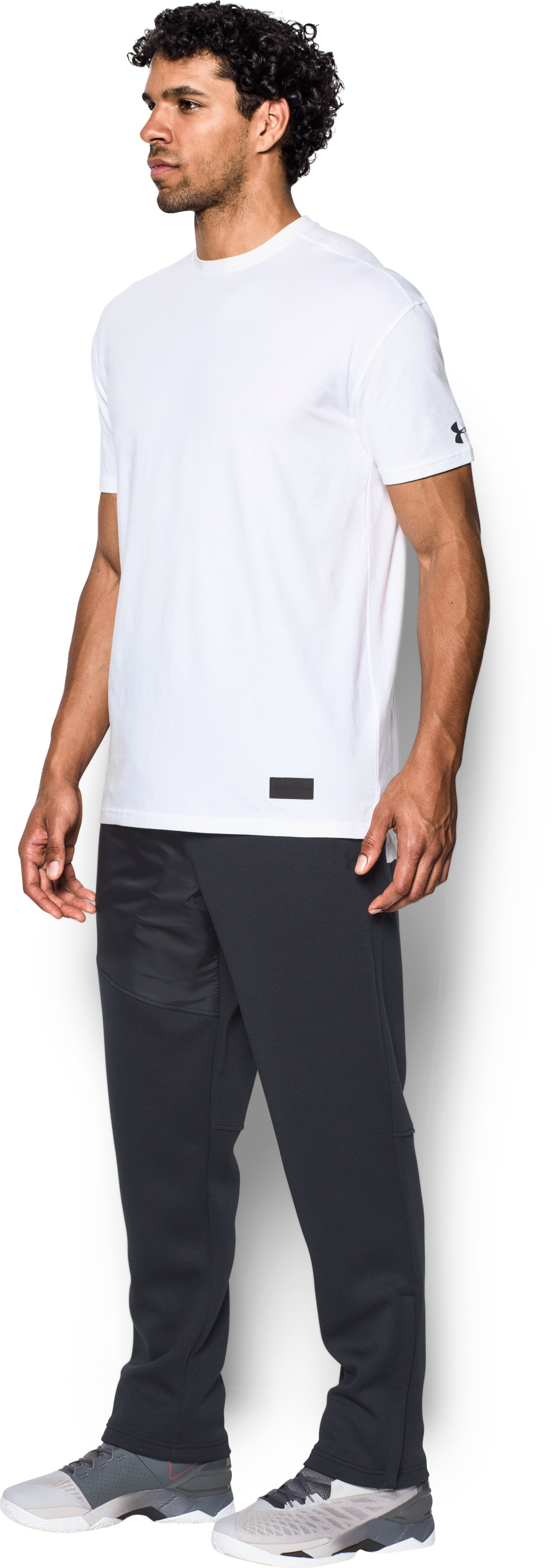Men's UA Pursuit Stealth T-Shirt, White,