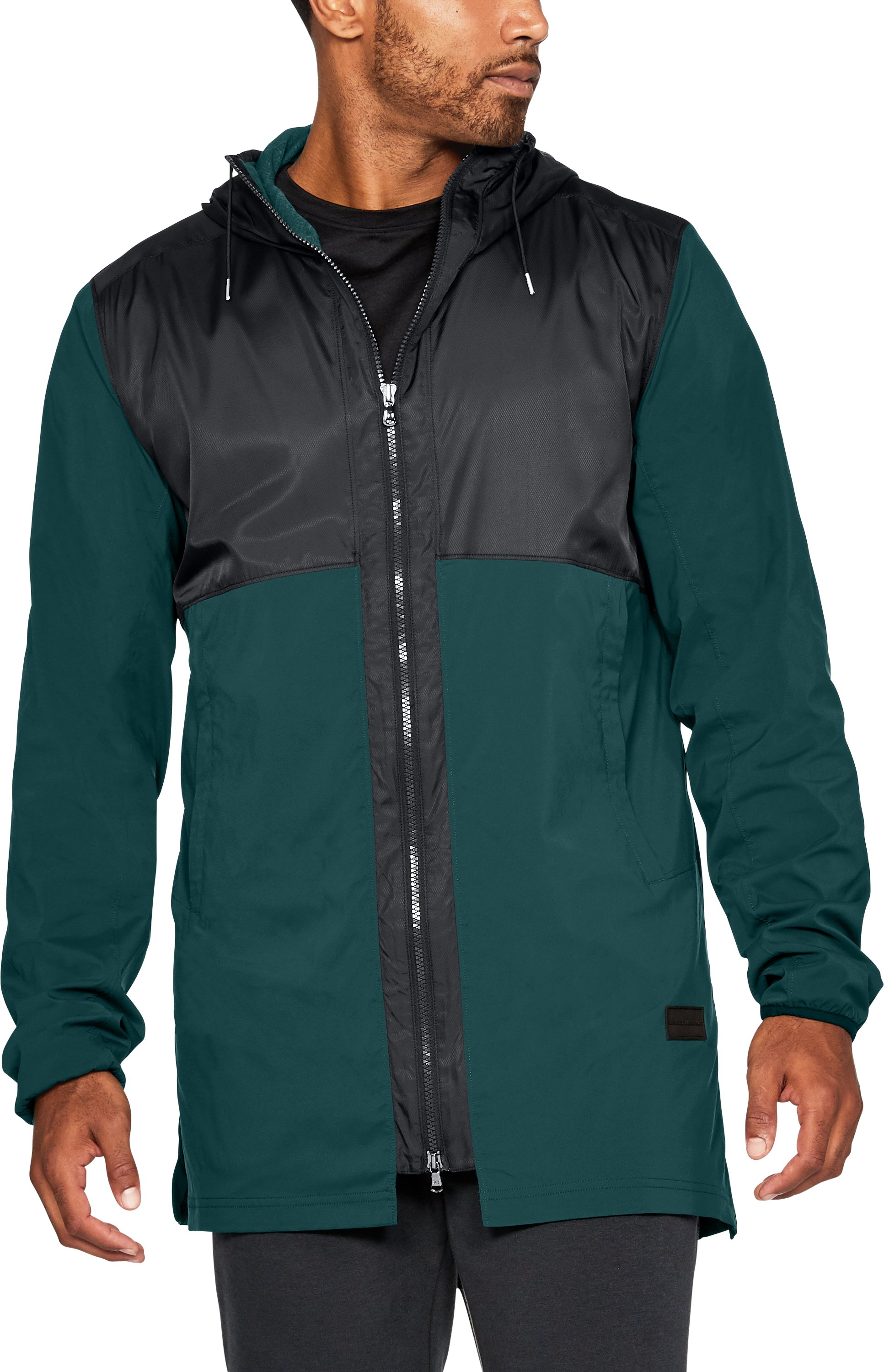 Men's UA Pursuit Fishtail Jacket, ARDEN GREEN