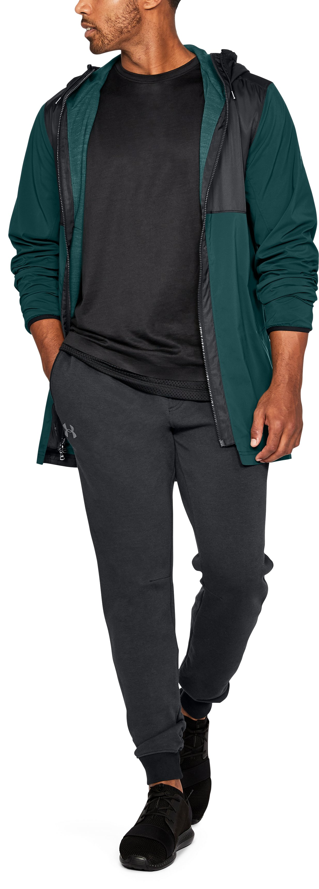 Men's UA Pursuit Fishtail Jacket, ARDEN GREEN, undefined