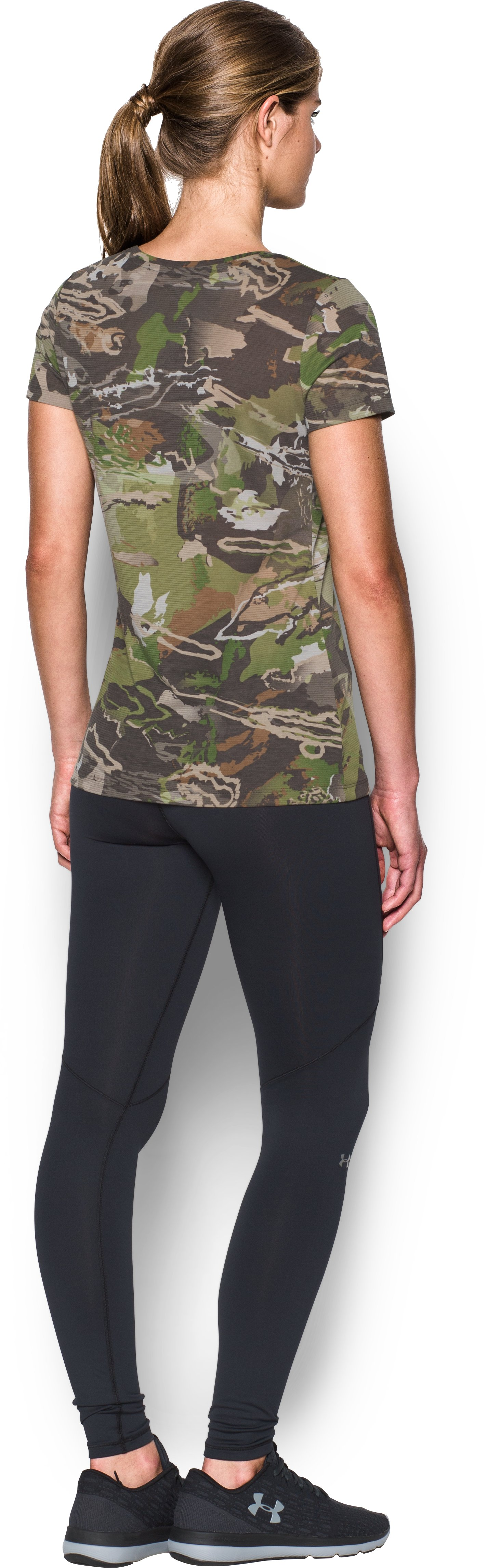 Women's UA Threadborne™ Early Season Short Sleeve, RIDGE REAPER® FOREST, Back