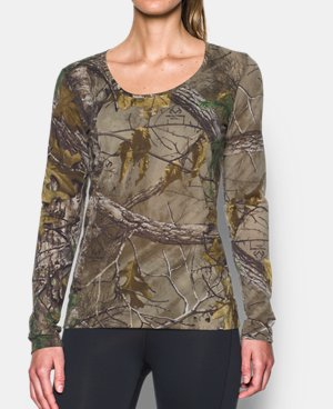 BRAND NEW Womens UNDER ARMOUR REALTREE XTRA CAMO FITTED Long Sleeve MD FREE SHIP