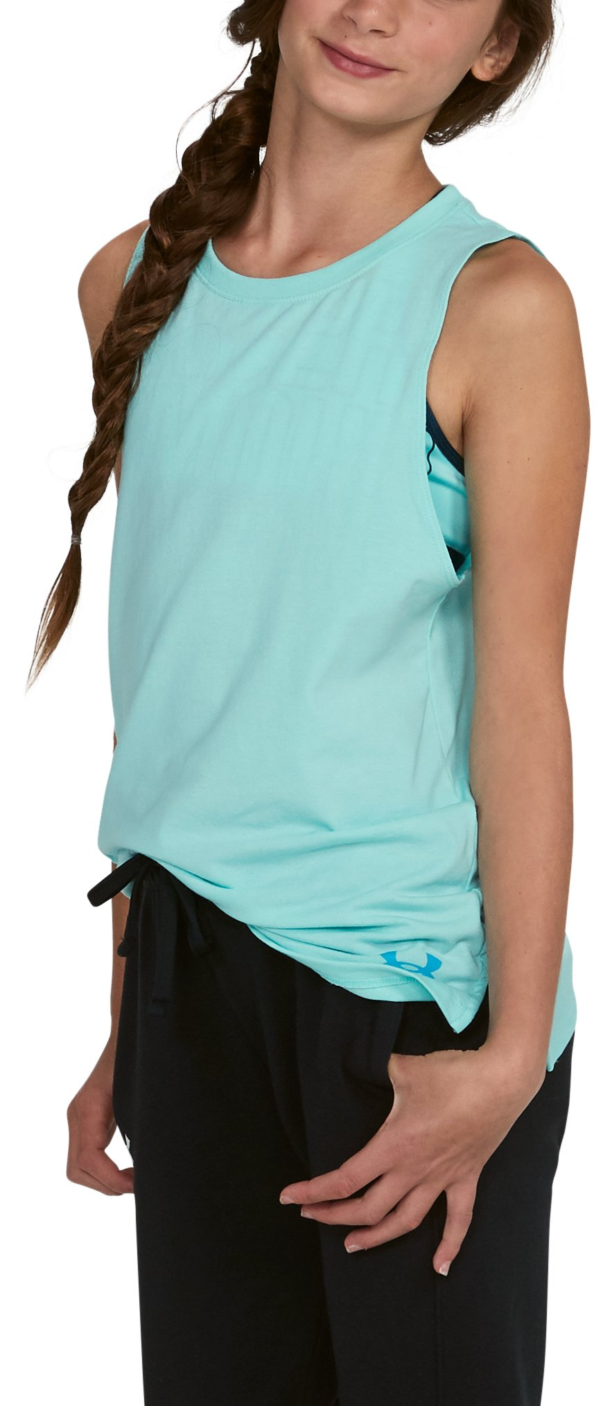 Girls' UA Boss Tank, BLUE INFINITY