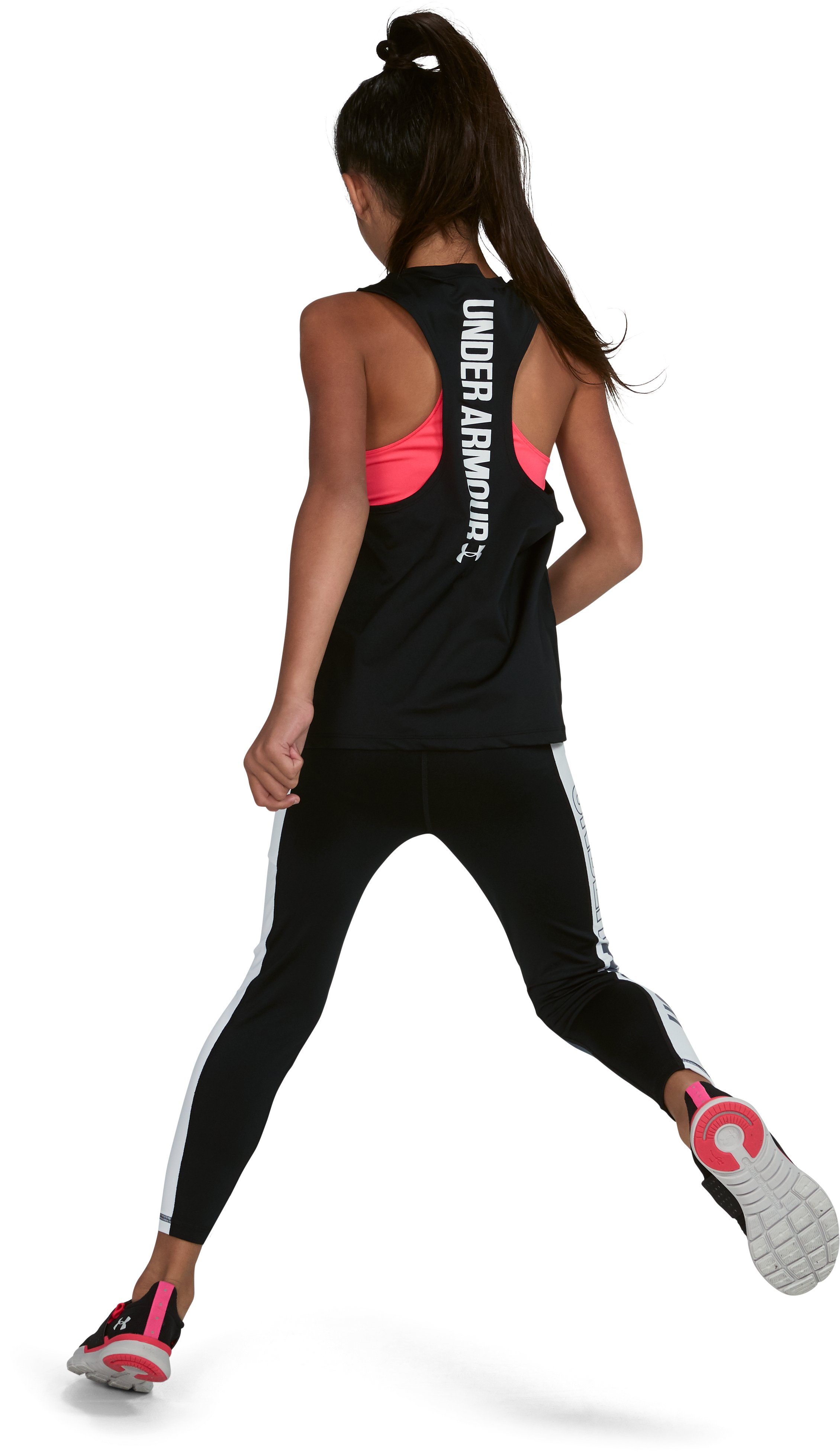 Girls' UA 2-in-1 Tank, Black ,