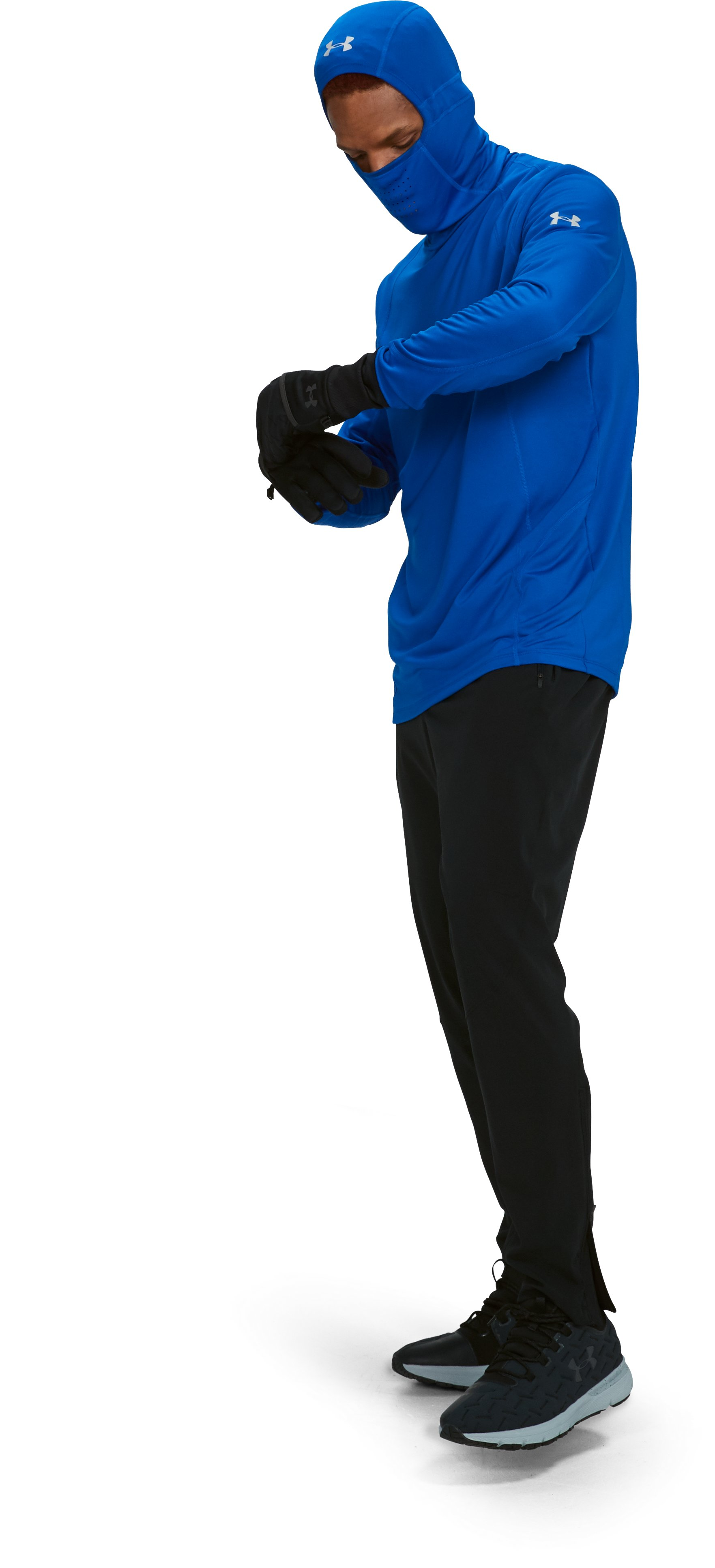 Men's ColdGear® Reactor Run Balaclava Hoodie, LAPIS BLUE, undefined