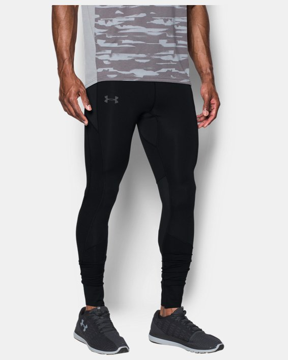Men's ColdGear® Reactor Run Leggings, Black, pdpMainDesktop image number 0