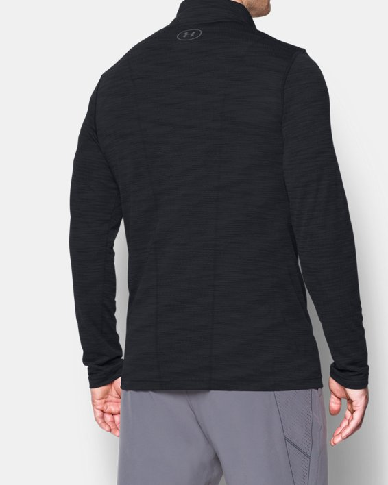 Men's UA Threadborne™ Seamless ¼ Zip, Black, pdpMainDesktop image number 2
