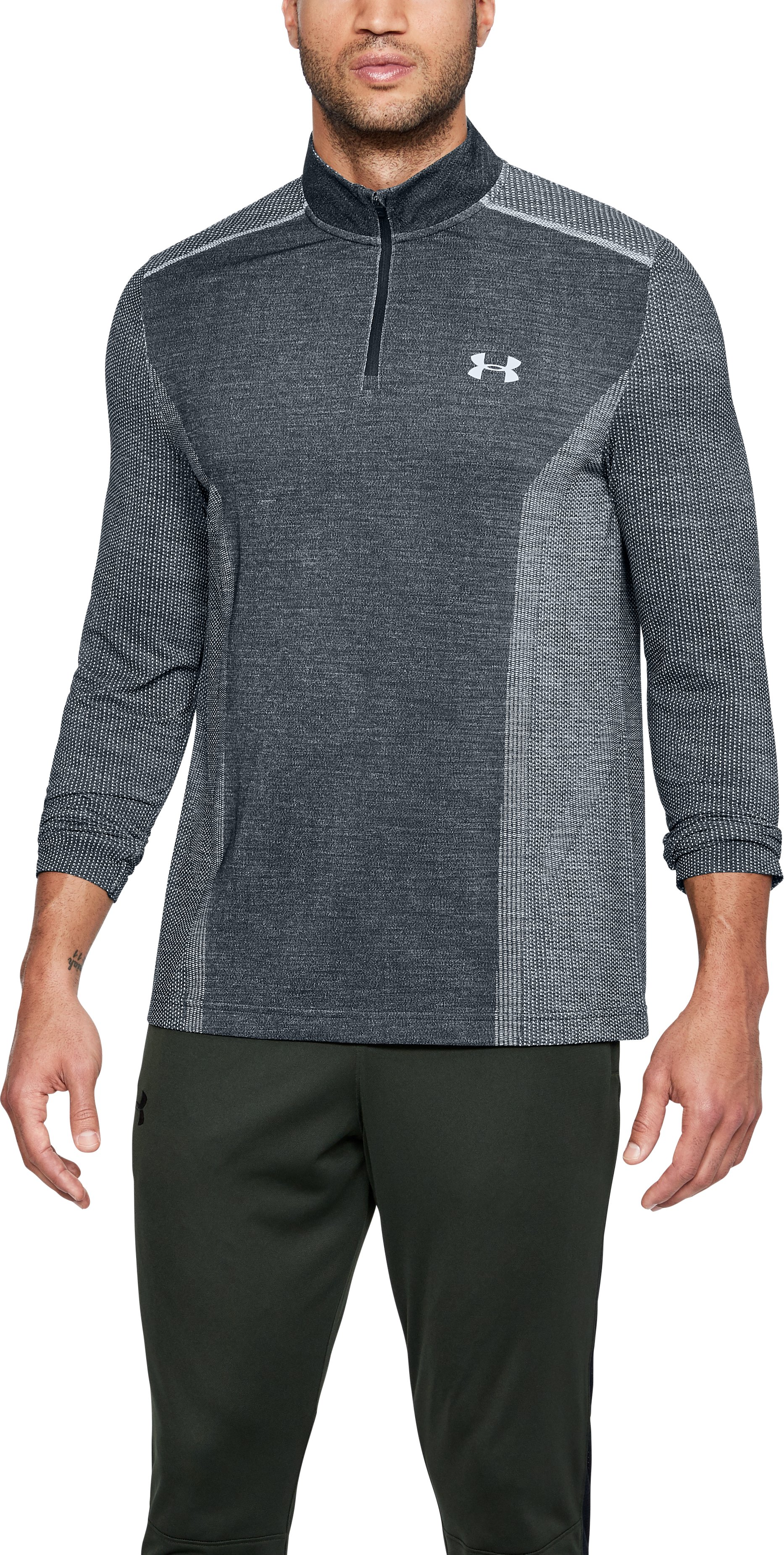 Men's UA Threadborne™ Seamless ¼ Zip, White