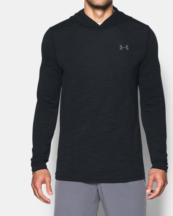 Men's UA Threadborne™ Seamless Hoodie, Black, pdpMainDesktop image number 0