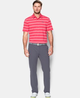 New to Outlet Men's UA CoolSwitch Bermuda Stripe Polo  1 Color $56.99