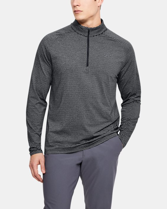 Men's UA Playoff ¼ Zip, Black, pdpMainDesktop image number 0