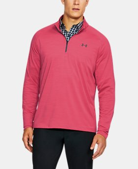 New to Outlet Men's UA Playoff ¼ Zip  8 Colors $44.99 to $52.49