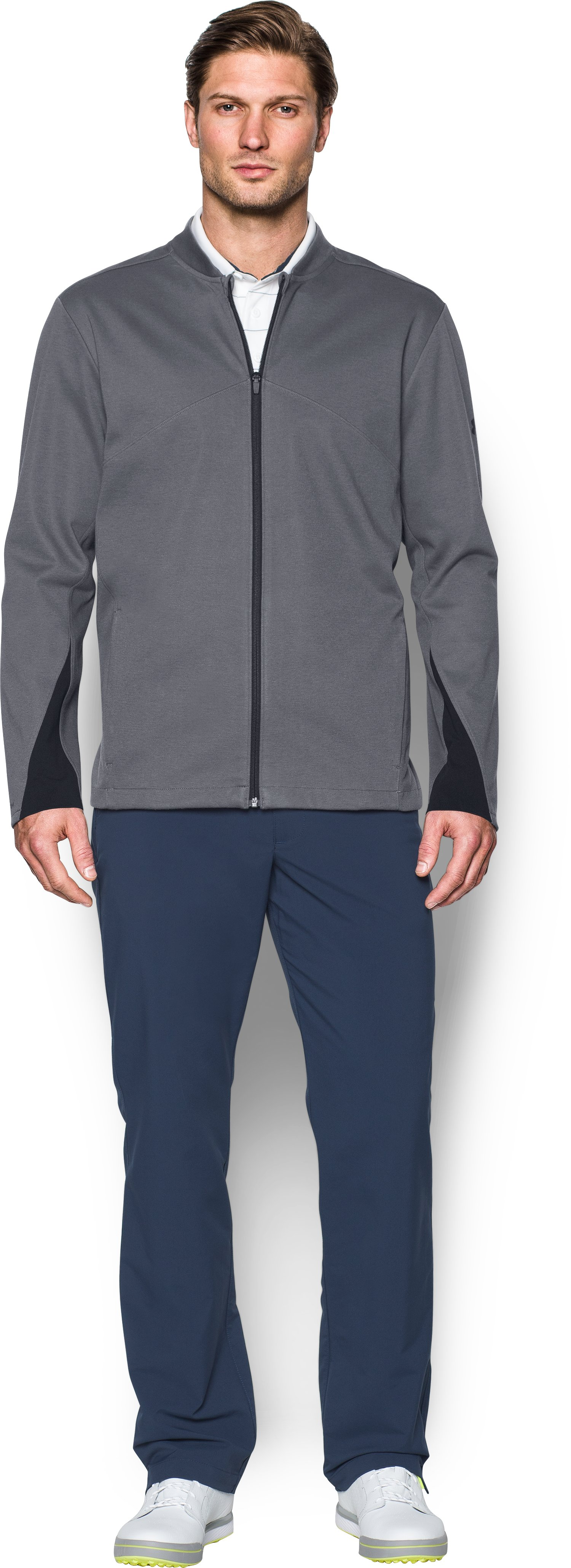 Men's UA Storm Jacket, RHINO GRAY, Front