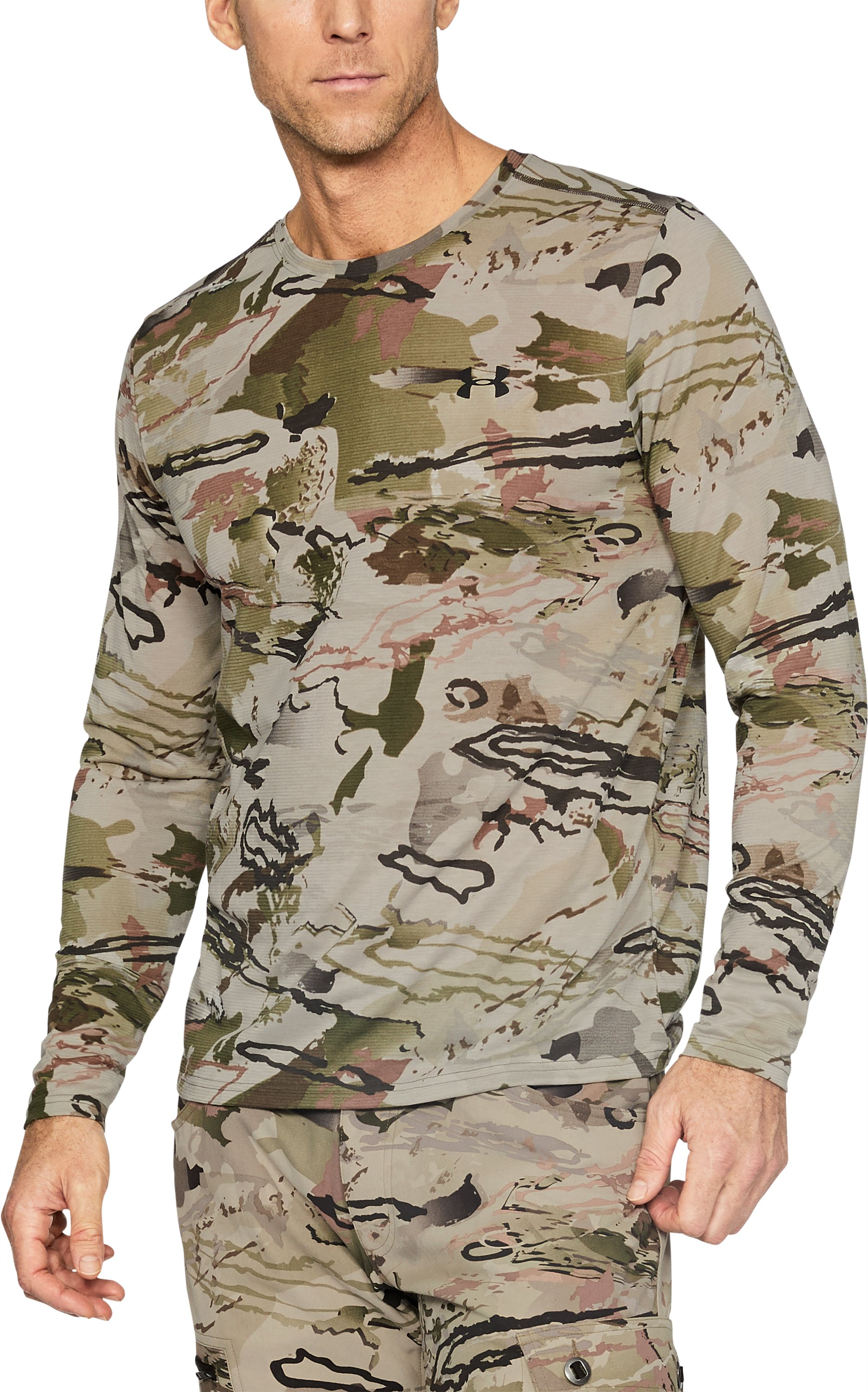 Men's UA Threadborne™ Early Season Long Sleeve T-Shirt, RIDGE REAPER® BARREN,