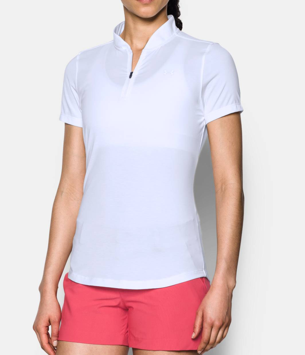 Women 39 s ua threadborne zip polo shirt under armour us for Woman s polo shirts