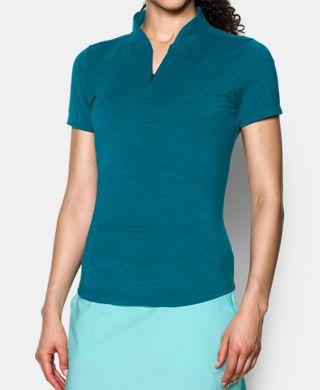 女子UA Threadborne Zip Polo衫
