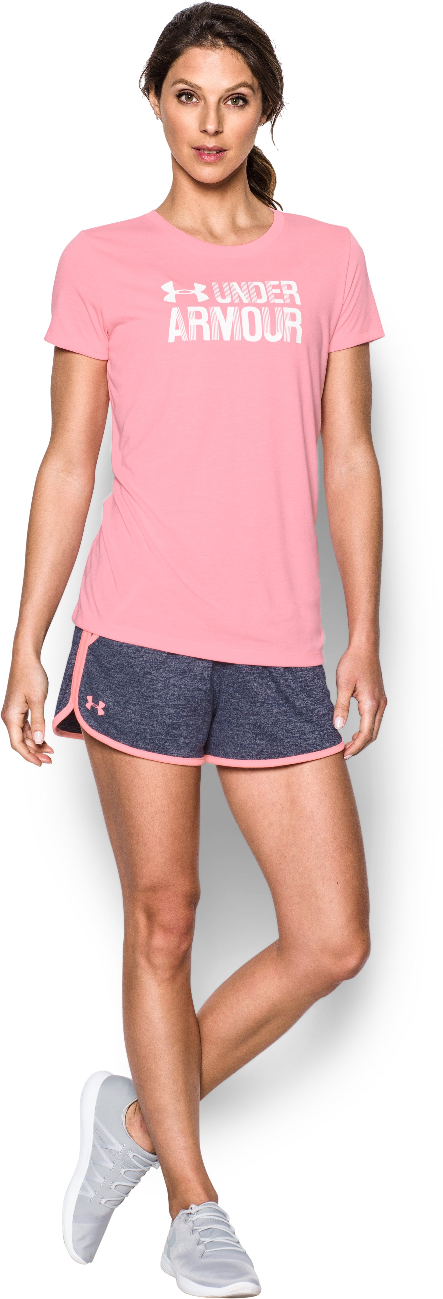 Women's UA Tech™ Twist Shorts, Midnight Navy, Front