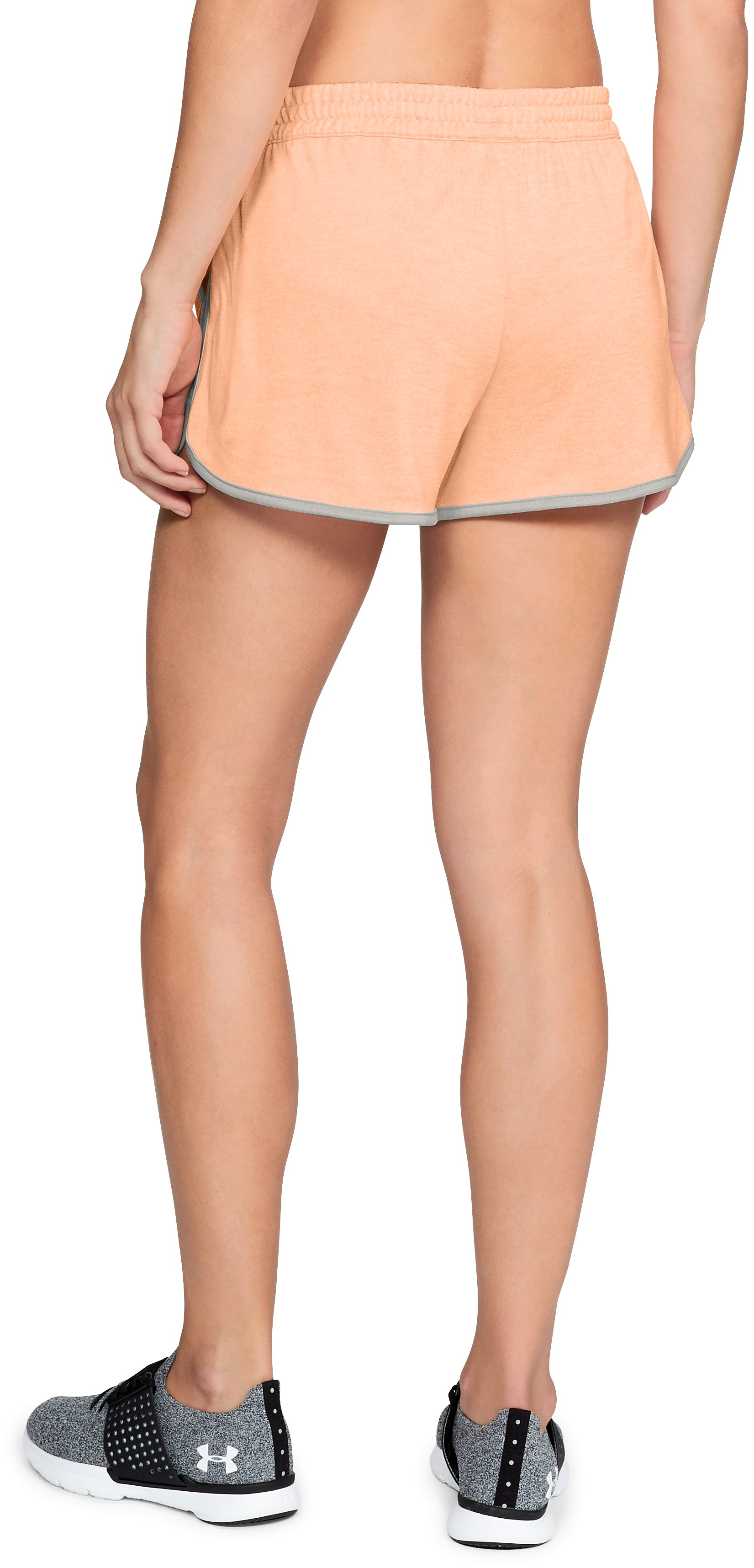 Women's UA Tech™ Twist Shorts, PEACH HORIZON,
