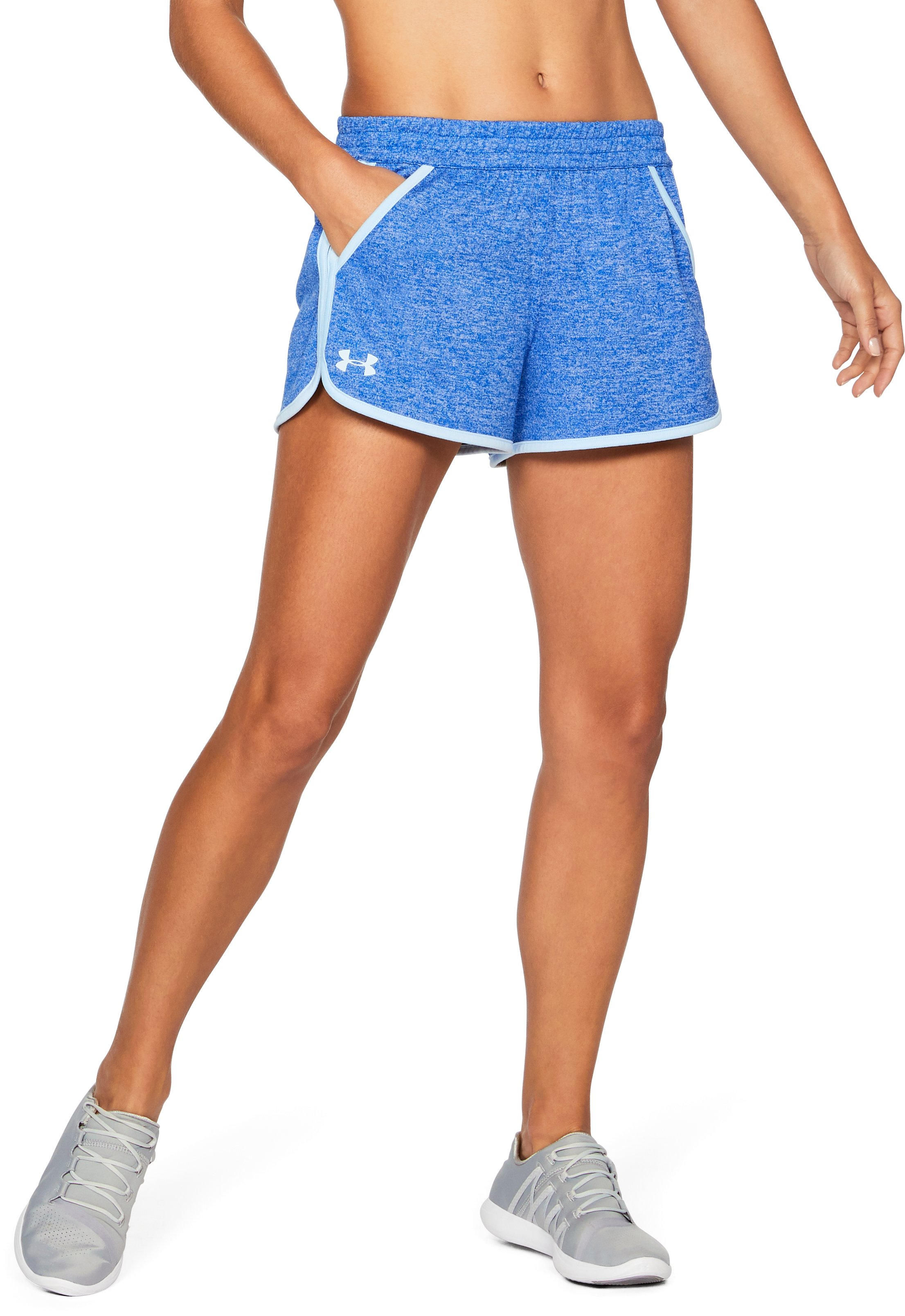 Women's UA Tech™ Twist Shorts, LAPIS BLUE