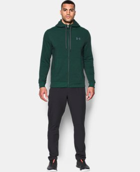 New Arrival Men's UA Threadborne™ Fleece Full Zip Hoodie  1 Color $69.99
