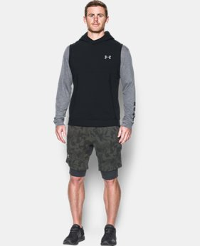 New Arrival Men's UA Threadborne™ Fleece Sleeveless Hoodie  1 Color $79.99