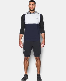 New Arrival Men's UA Threadborne™ Fleece Sleeveless Hoodie  3 Colors $79.99