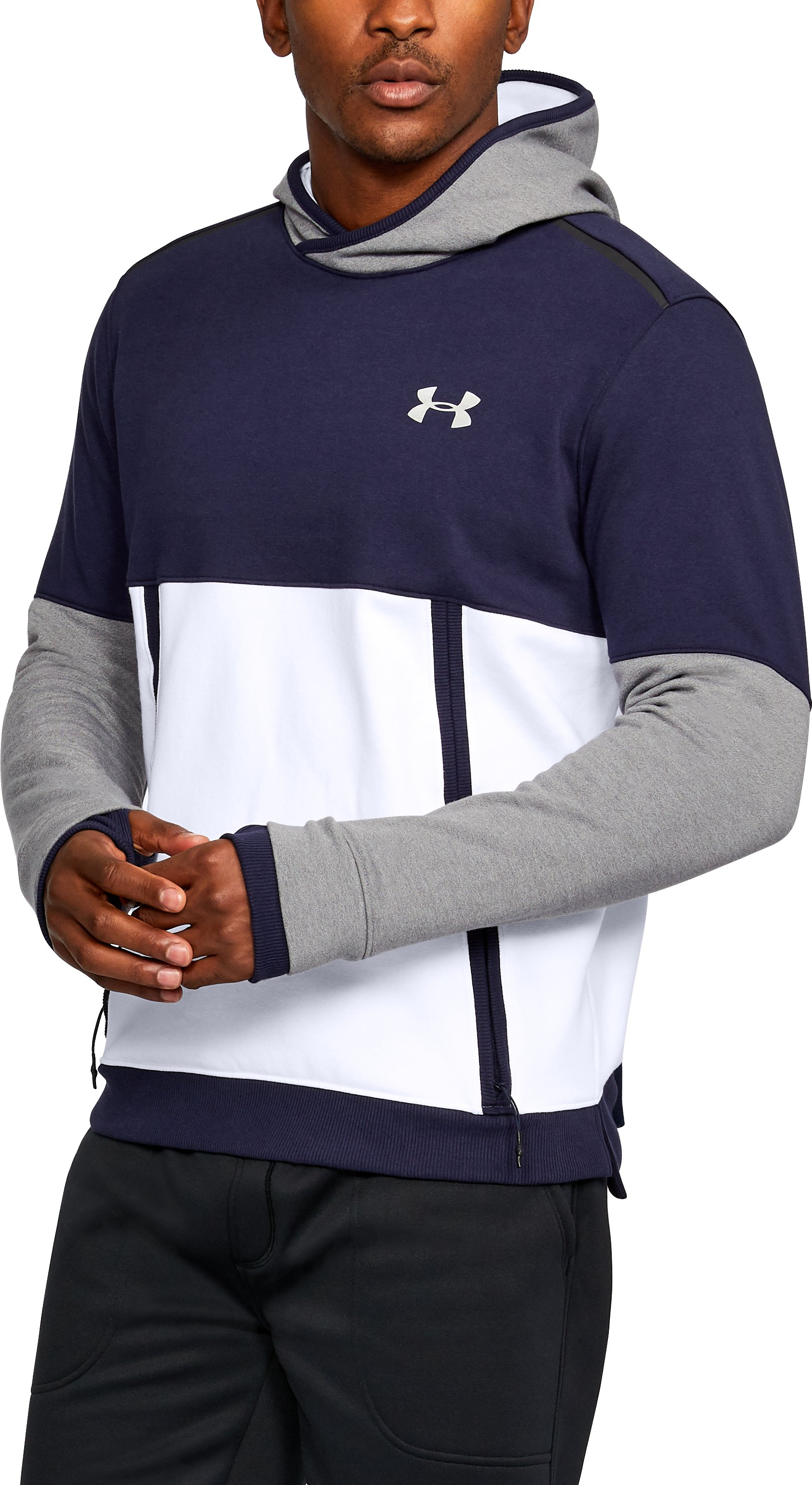 Men's UA Threadborne™ Fleece Hoodie, White