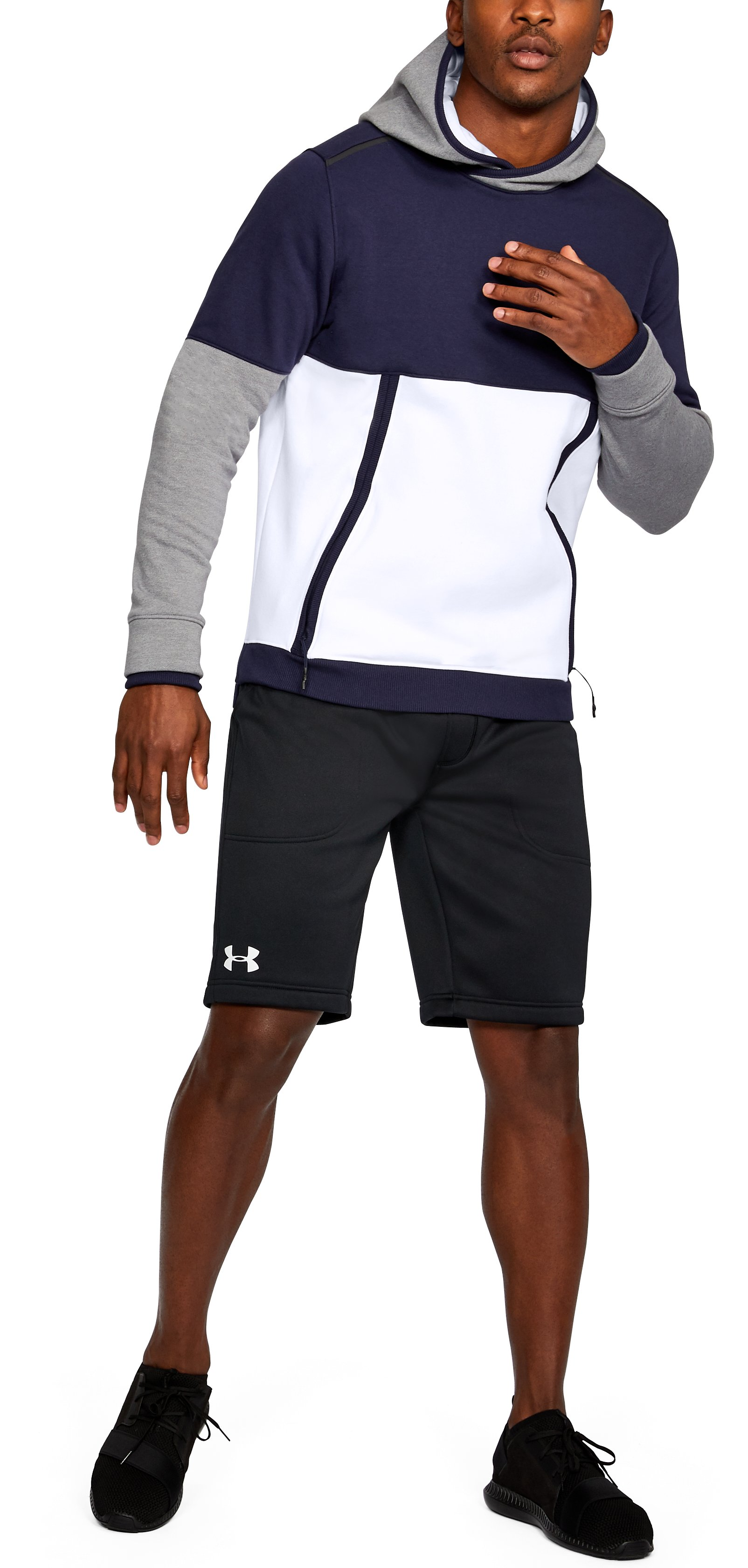 Men's UA Threadborne™ Fleece Hoodie, White,