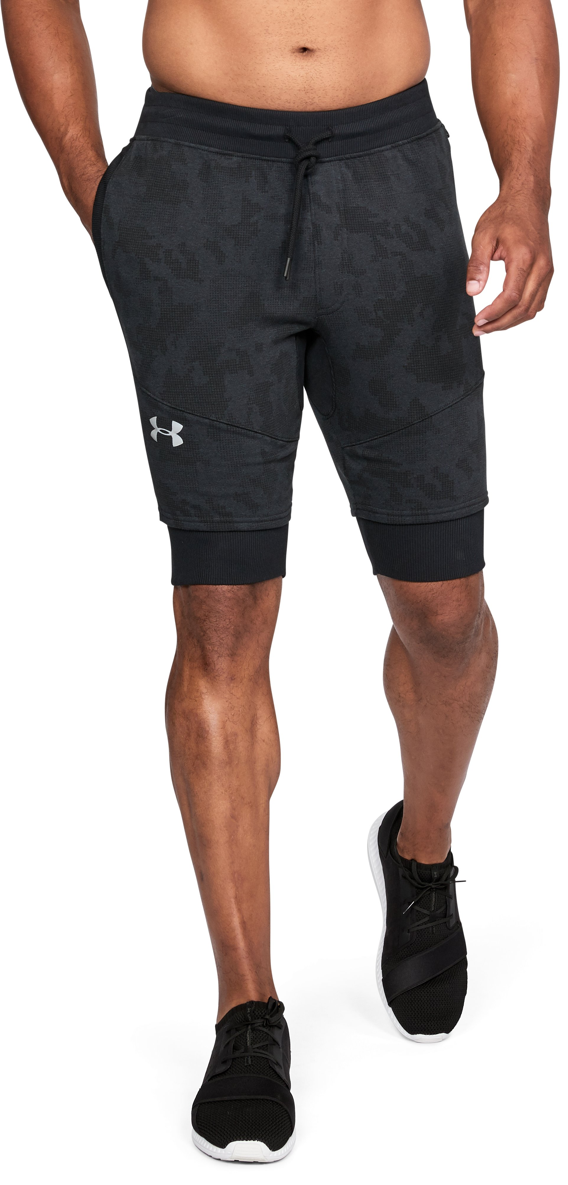 Men's UA Threadborne™ Fleece Shorts, Black