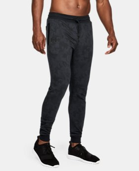 Men's UA Microthread Fleece Patterned Stacked Joggers  1  Color Available $69.99