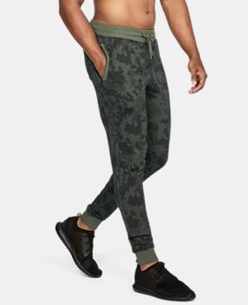 New Arrival Men's UA Threadborne™ Fleece Patterned Stacked Joggers  2 Colors $69.99