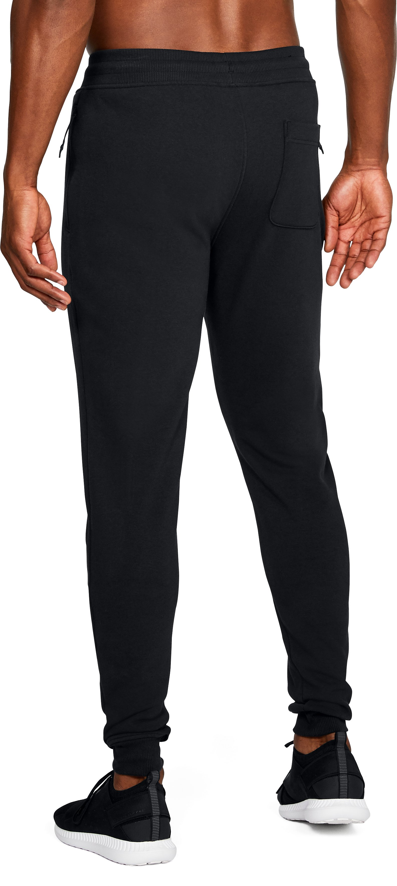 Men's UA Threadborne™ Fleece Stacked Joggers, Black ,