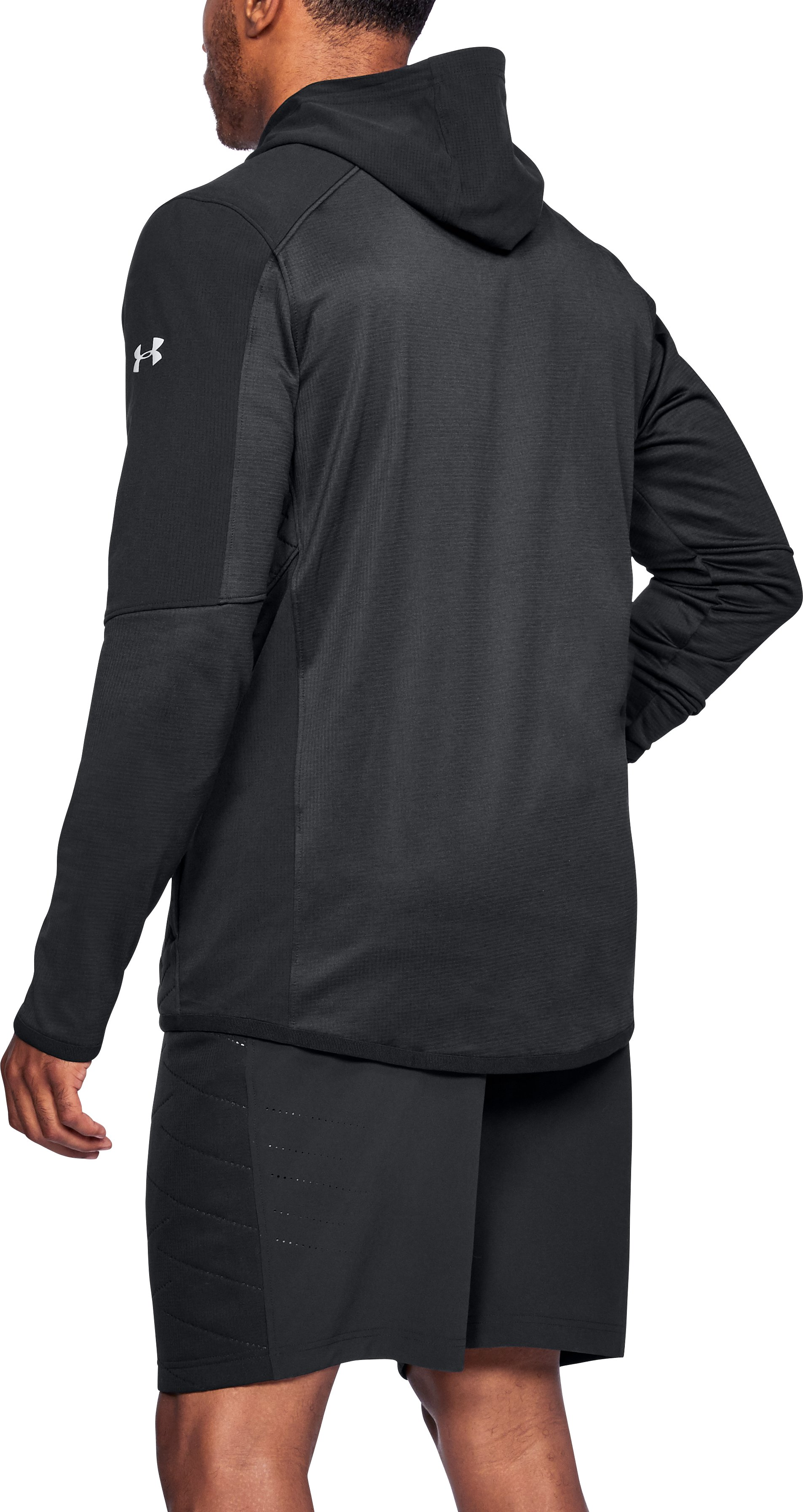 Men's ColdGear® Reactor Fleece Insulated Full Zip Hoodie, Black ,