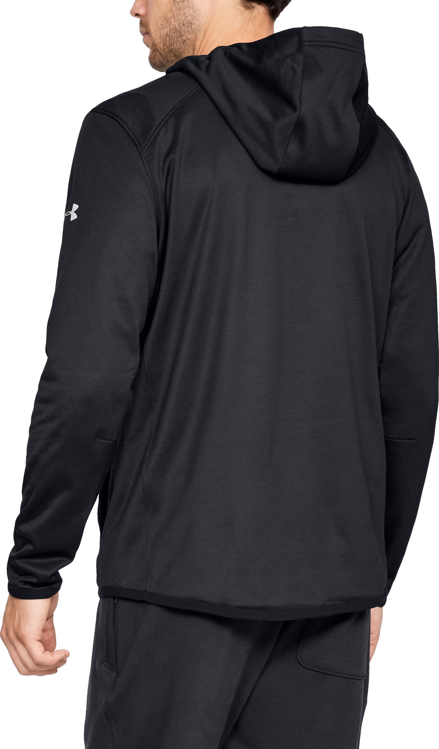 Men's ColdGear® Reactor Fleece Insulated ¼ Zip Hoodie, Black ,