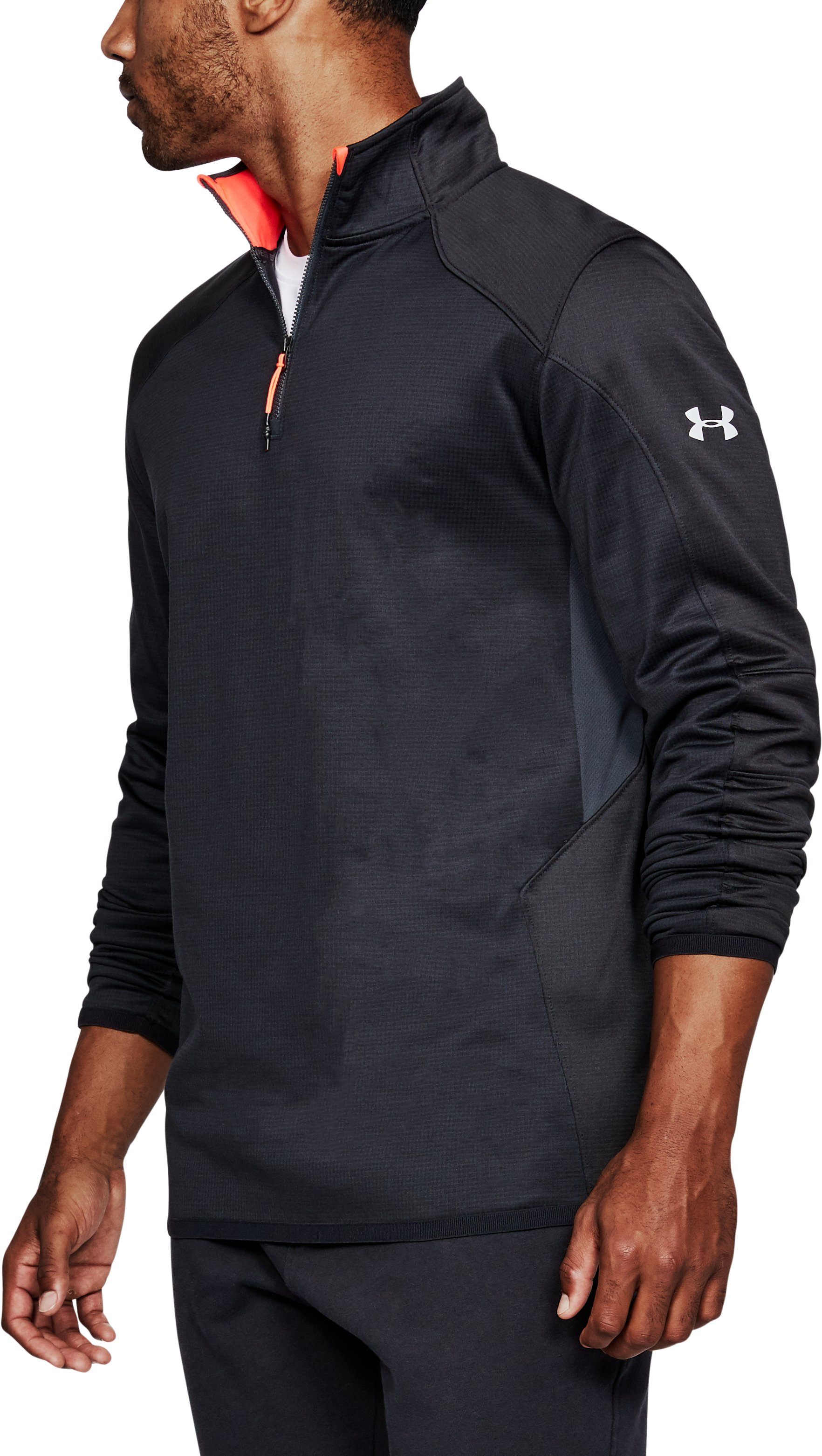 Men's ColdGear® Reactor Fleece ¼ Zip, ANTHRACITE